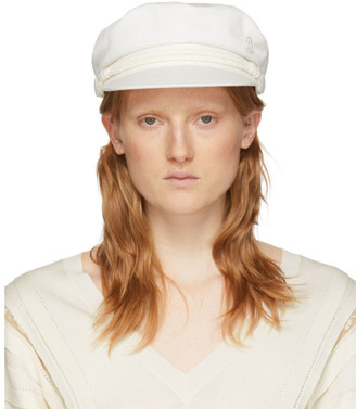 Maison Michel White New Abby Cap