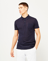 Sunspel Short Sleeve Riviera Polo Shirt Navy
