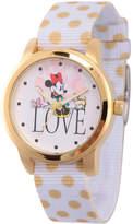 Disney Princess Disney Minnie Mouse Womens White Strap Watch-Wds000257