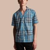 Burberry Cotton Poplin Pyjama-style Shirt, Blue
