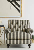 Anthropologie Suren-Striped Fan Pleat Chair
