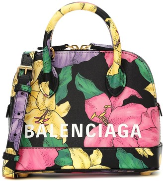 Balenciaga Ville XXS floral leather tote