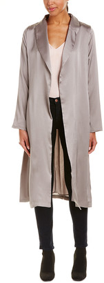 4SI3NNA the Label Satin Wrap Coat