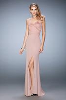 La Femme 22770 Bandage Style Long Gown with Slit