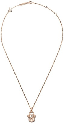 Chopard 18kt rose gold Good Luck Charms diamond pendant necklace