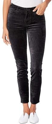 Paige Hoxton Ankle in Dark Spruce Velvet (Dark Spruce Velvet) Women's Casual Pants