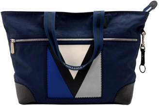 Louis Vuitton Blue Rubber Coated Canvas 2007 Cup Tote