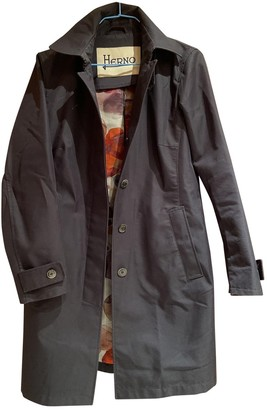 Herno Black Cotton Coats
