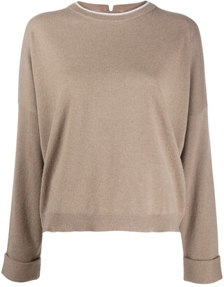 Brunello Cucinelli Embellished Collar Jumper