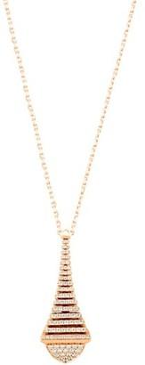 Marli Cleo By Rev 18K Rose Gold & Diamond Pendant Long Necklace