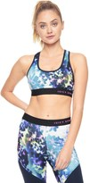 Juicy Couture Sport Compreshort Sleeveion Floral Glow Zip Bck Bra