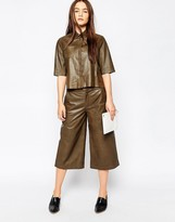 Muu Baa Muubaa Bello Leather Culottes