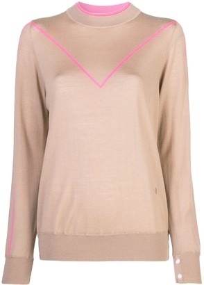 Adam Lippes Pink Trim Sweater
