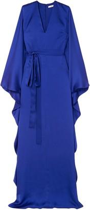 Safiyaa Aurora Hammered Silk-satin Gown