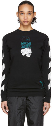 Off-White Black Dripping Arrows Long Sleeve T-Shirt