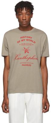 Raf Simons Taupe Xanthrophobic Slim-Fit T-Shirt