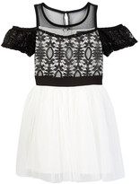 My Michelle mymichelle Lace Top Cold Shoulder Dress (Big Girls)