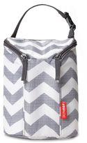 SKIP*HOP® Chevron Grab & Go Double Bottle Bag in Grey/White