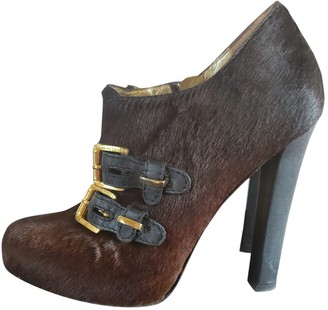 DSQUARED2 Brown Pony-style calfskin Ankle boots