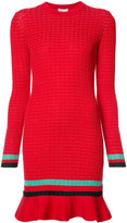 3.1 Phillip Lim long sleeve knit dress - women - Cotton/Spandex/Elastane - M