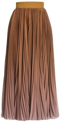 Dolce & Gabbana Degrade Pleated Midi Skirt