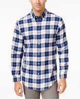 John Ashford Men's Big and Tall Long-Sleeve Bold Plaid Shirt, Only at Macy's