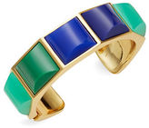 Trina Turk Goldtone Blue and Green Cuff Bracelet