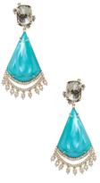 Alexis Bittar Lucite Crystal Lace Liquid Silk Chandelier Drop Earrings