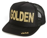 Women's Nbrhd Golden Trucker Hat - Black
