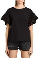 AllSaints Trixi Ruffle-Sleeve Top