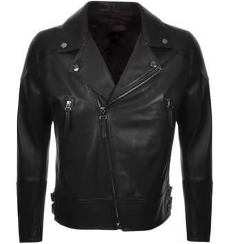 HUGO BOSS Boss Business Golen Leather Jacket Black