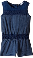 Splendid Littles Indigo Romper with Lace Girl's Jumpsuit & Rompers One Piece