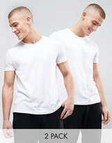 Emporio Armani Cotton Crew Neck T-shirts 2 Pack In Muscle Fit