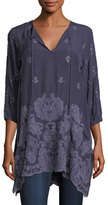 Johnny Was Paisley Flair Georgette Easy Tunic