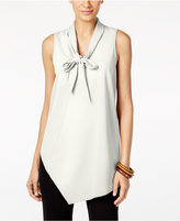 Alfani Bow-Tie Asymmetrical-Hem Top, Only at Macy's