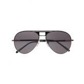 Loewe Black Leather and Metal Sunglasses