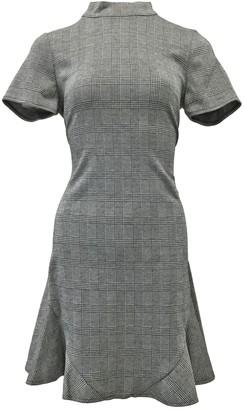Mock Neck Plaid Texture Dress