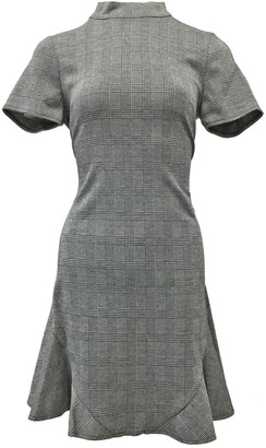 Nanette Nanette Lepore Mock Neck Plaid Texture Dress