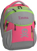 Pottery Barn Kids Backpack, Colton Bright Pink/Lime Trim Skull