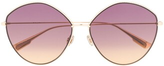 Christian Dior Round-Frame Oversized Sunglasses