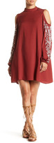 Angie Mock Neck Embroidered Dress