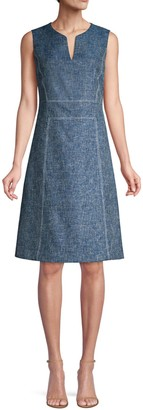 Lafayette 148 New York Brett Sleeveless A-Line Dress