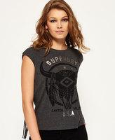 Superdry Savanna Fringe Skull T-shirt