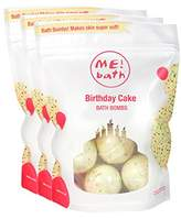 Me! Bath Handmade Mini Bath Bombs, Birthday Cake, Pack of 3