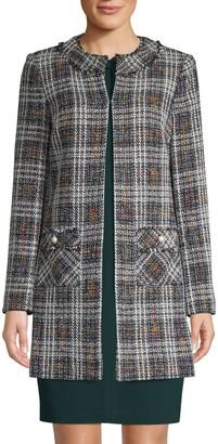 Karl Lagerfeld Paris Plaid Tweed Jacket