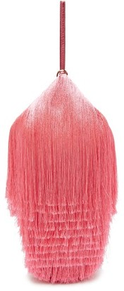 Hillier Bartley Lantern Fringed Leather Clutch - Womens - Pink