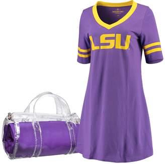Unbranded Women's Purple LSU Tigers Football Jersey Night Dress & Mini Duffel Bag Set