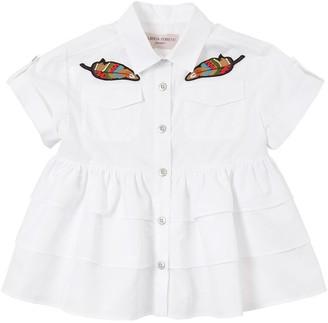 Alberta Ferretti Cotton Poplin Shirt W/ Patches