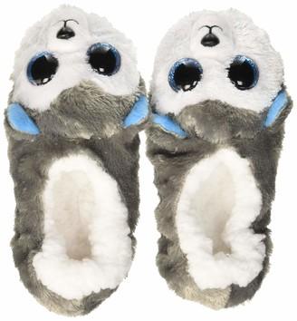 Ty Slush Le Chien Slippers Small Size 30 Gray