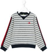 Macchia J Kids - star patch striped sweatshirt - kids - Cotton - 2 yrs